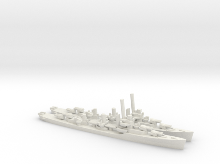 US Porter-Class Destroyer (x2) 3d printed