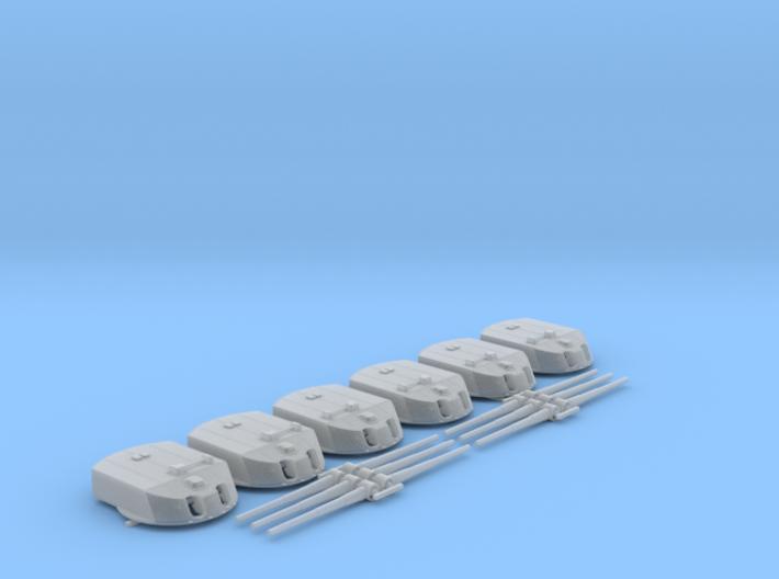 "1/350 Helgoland Class 30.5cm (12"") SK L/50 Guns x6 3d printed 1/350 IGN Helgoland Class 30.5cm (12"") SK L/50 Guns x6"