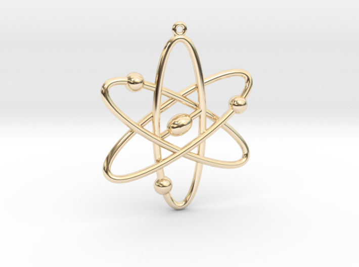 Atom Keychain or Pendant 3d printed