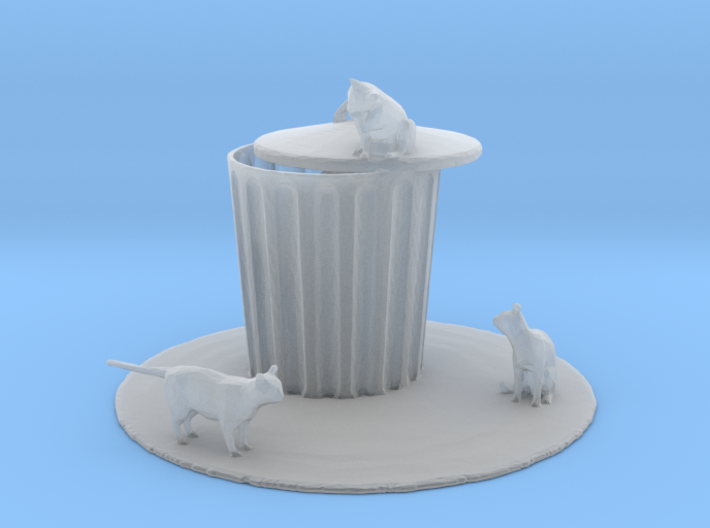 S Scale Cat Trouble 3d printed This is a render not a picture