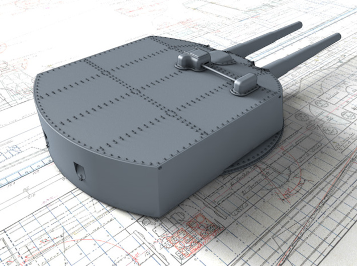 "1/700 SMS Von Der Tann 28cm/45 (11"") SK L/45 Guns 3d printed 3d render showing product detail"