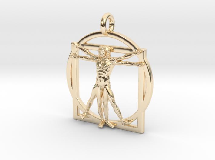 Vitruvian Man Small Pendant 3d printed