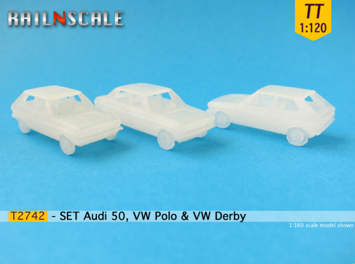 SET Audi 50, VW Polo & VW Derby (TT 1:120) 3d printed