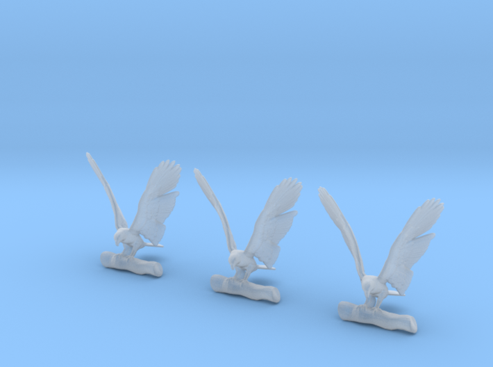 Eagle Perched with Wings Spread 3d printed