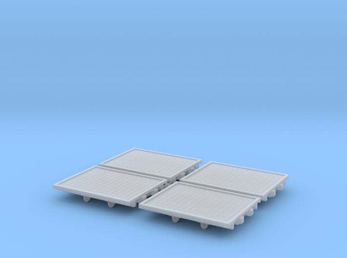 A.G.W.I. Oil Refinery Flat Wagons (x4) 3d printed