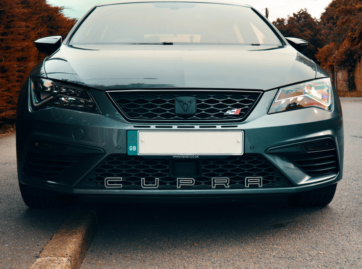 Cupra Lower Grill Letters - Full Set 3d printed Black lettering with grey sprayed outlines