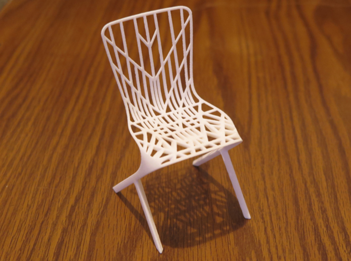 Delicieux Washington Skeleton Aluminum Side Chair 3d Printed