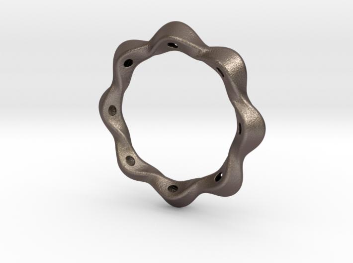 Twist bracelet 75 steel 3d printed