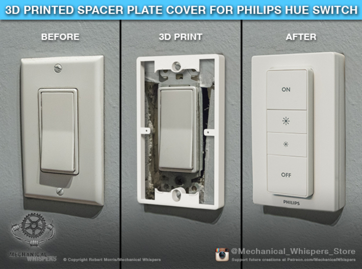Philips Switch Decora Plate (Set of 6 Discounted) 3d printed