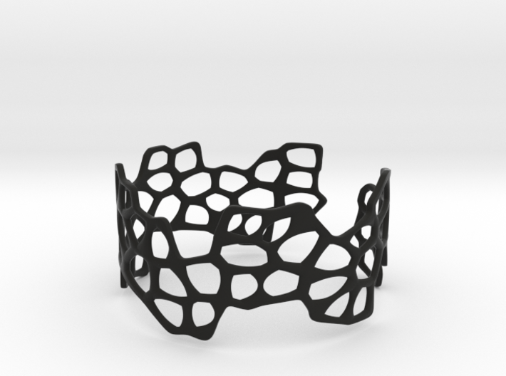 Cells Bracelet (open, 64mm) 3d printed