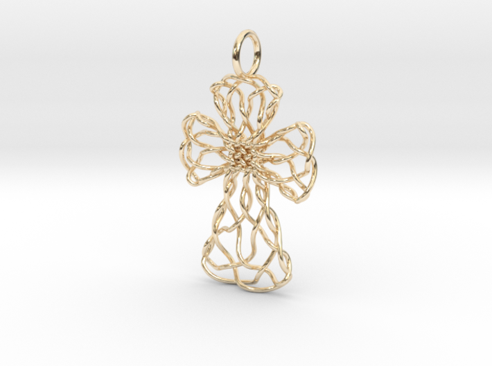 Celtic Cross Pendant, v.2 - Christian Jewelry 3d printed
