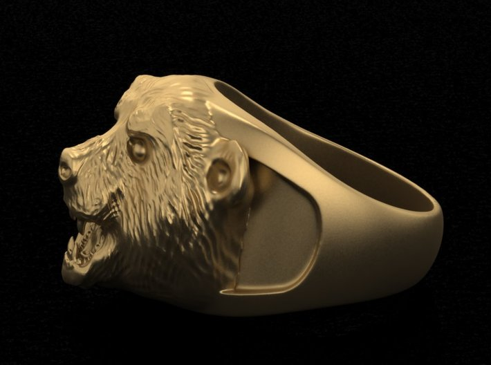 Grizzly bear ring 3d printed Add a caption...