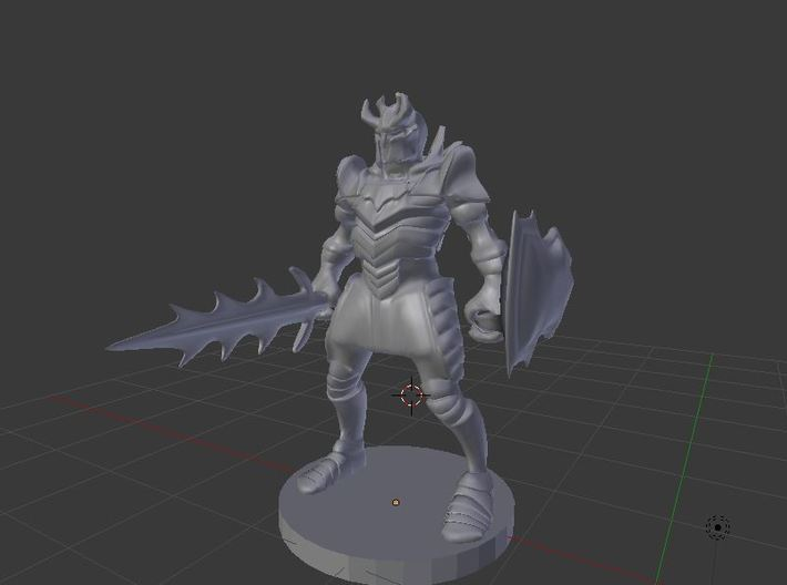 Helmed Horror 3d printed