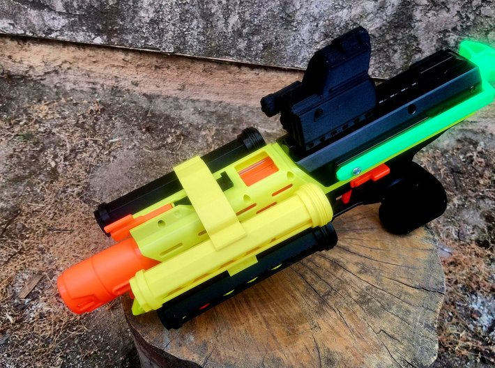 Double-Sided SpeedLoader Carrier for Nerf Mercury 3d printed