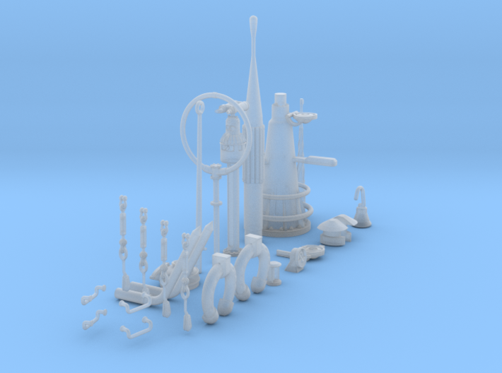1/32 DKM U-Boot VIIC Conning Tower Detail KIT 3d printed
