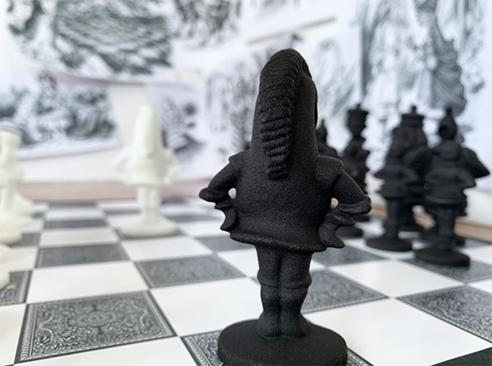 KNIGHT - Alice's Adventures in Wonderland 3d printed Black Knight (back)