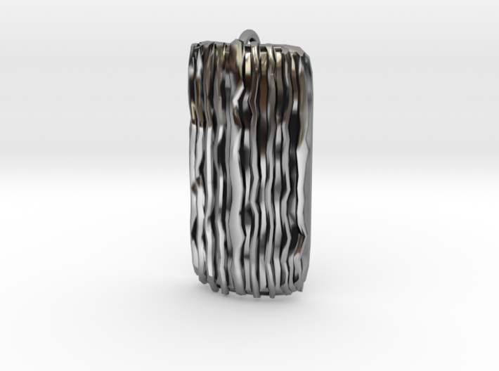Groovy Bend pendant 3d printed