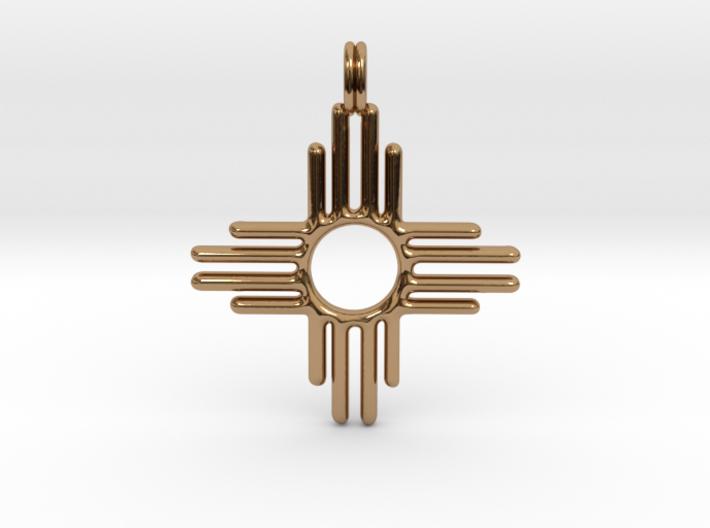 Native America Zia Sun Symbol Jewelry Pendant 3d printed