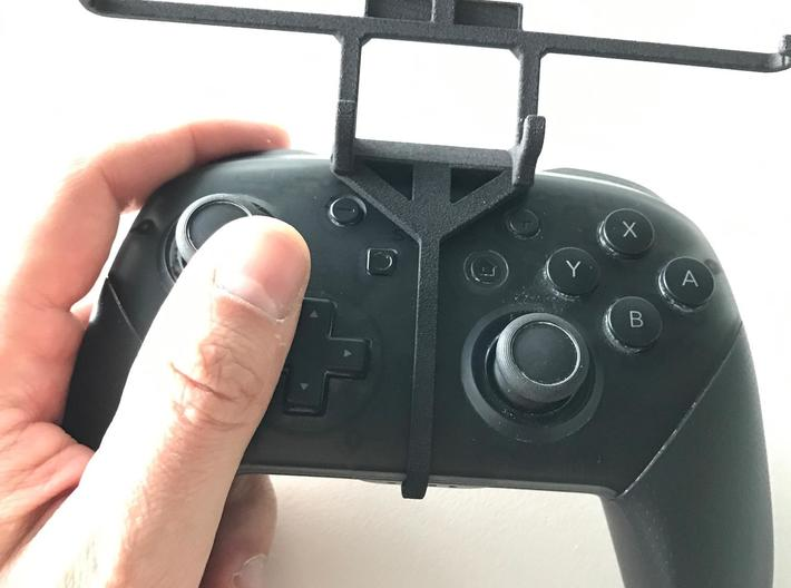 Nintendo Switch Pro controller & Honor 20S - Over  3d printed Nintendo Switch Pro controller - Front Rider - Barebones