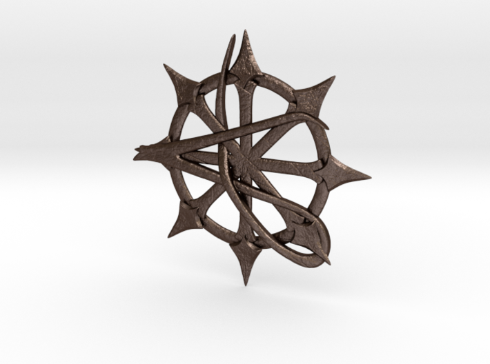 Anarchy Star pendant 3d printed