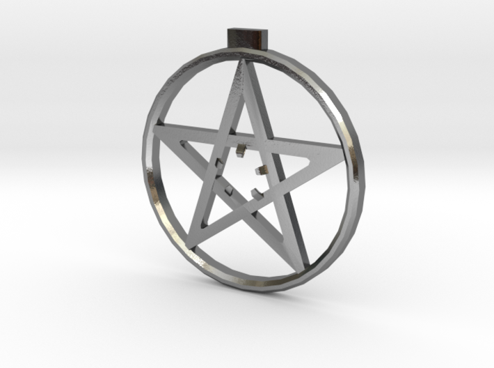 Light up pentacle necklace (front) 3d printed