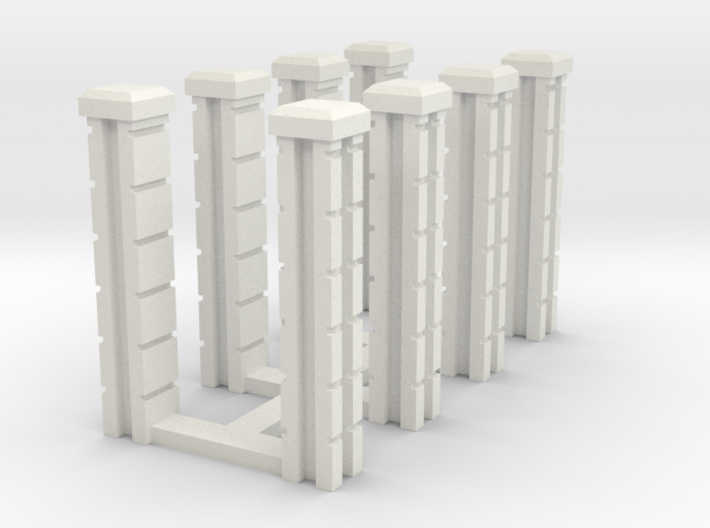 Block Wall Intersection Columns 3d printed Part # SWJ-037