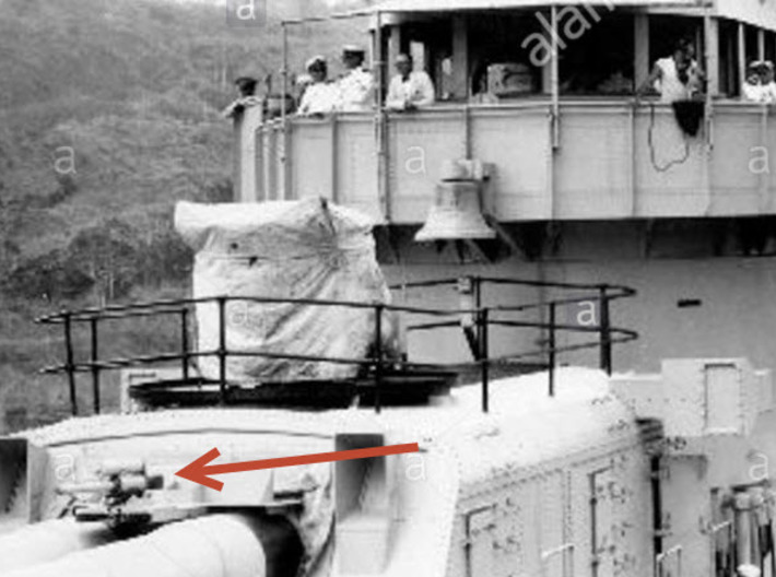 Early Mk 19 Fire Control Director & Range Finders  3d printed Sub-caliber gun on the ship