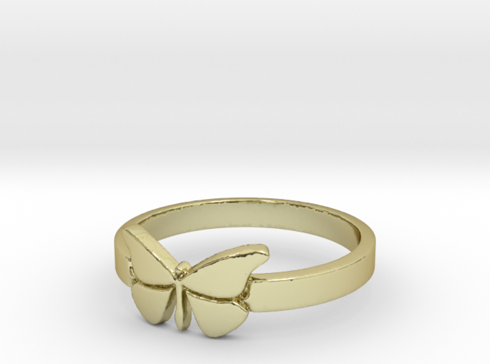 Butterfly (small) Ring Size 8 3d printed