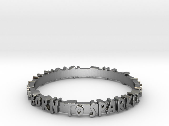 Born To Sparkle Ring (Multiple Sizes) 3d printed