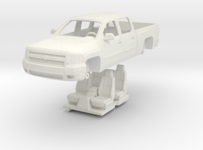 1:64 Chevy Silverado 4 door 3d printed