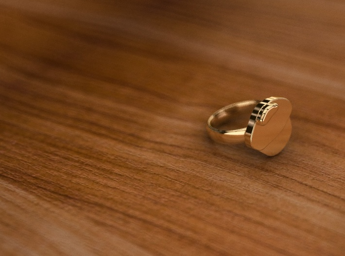 Pikabu Classical Ring 14k gold 7size 3d printed