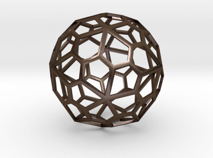 60 sided polyhedron, pentagonal faces 3d printed