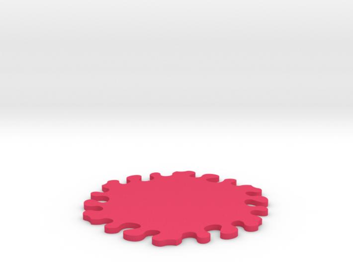 Drink Coaster - Interlocking - Splat Design 3d printed