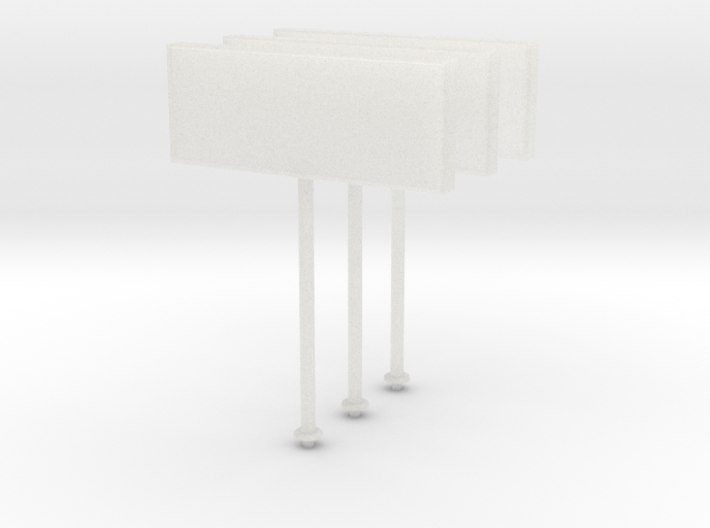 N-Scale Restaurant Sign - 3 Pack 3d printed
