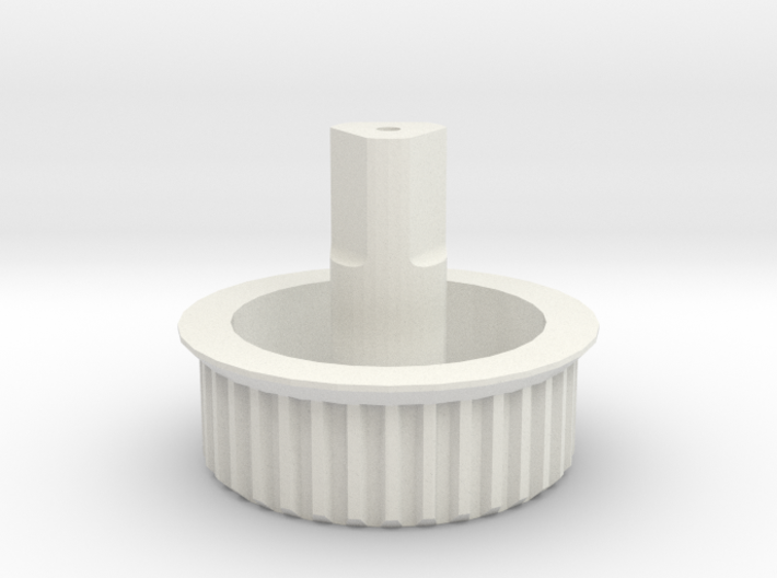 Beater-brush Drive Gear for Dyson DC25 3d printed Gear in white nylon
