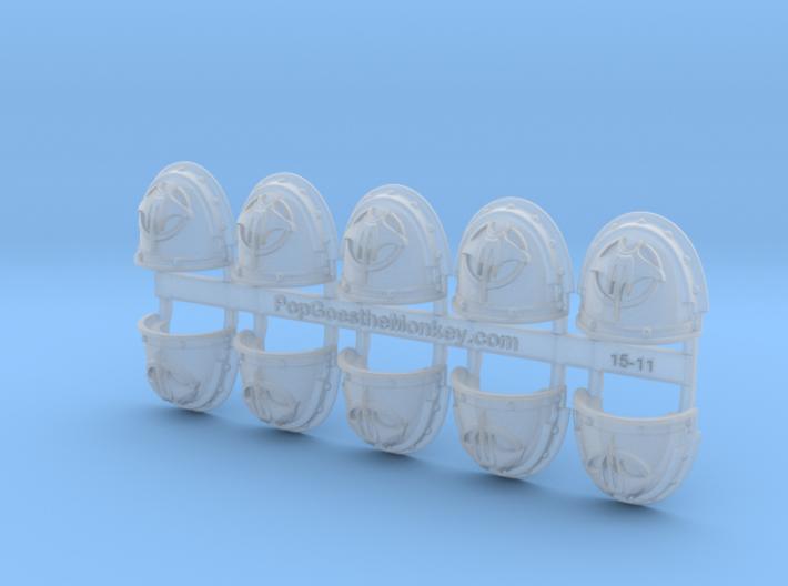10x G:3a  Devil Rays Shoulder Pads 3d printed