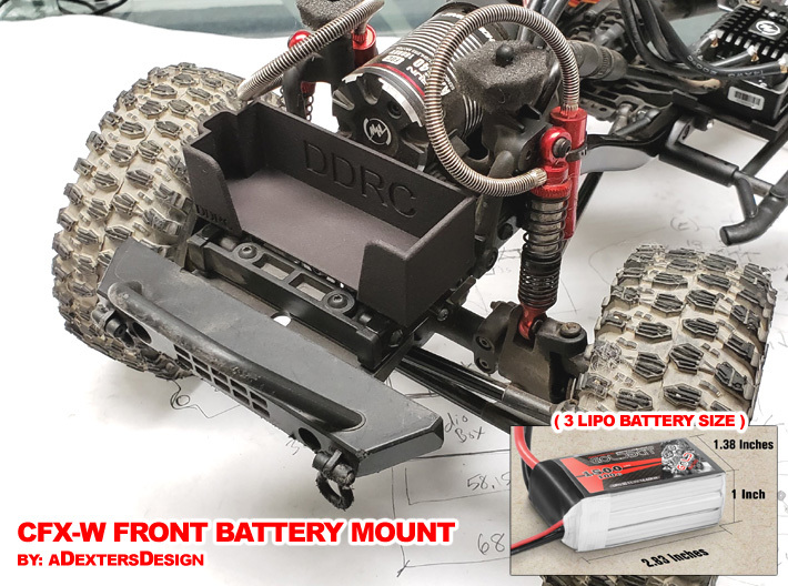 Front LiPo Battery Mount for CFXW / CFX / CMX 3d printed V1 - Front Battery Mount