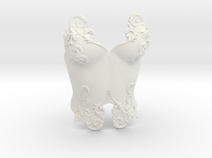 Romantic Breastplate 3d printed