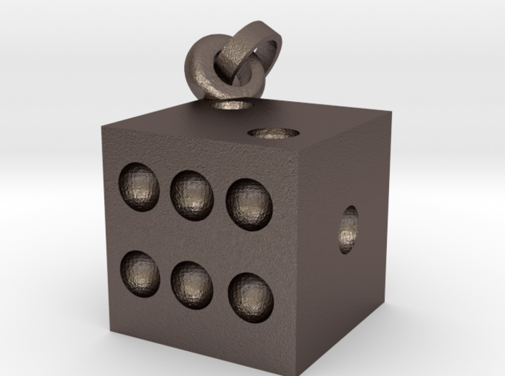Dice Chain Pendent charm 3d printed
