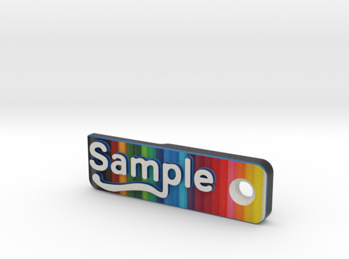 Full-Colour Sample - Material Sample Stand 3d printed