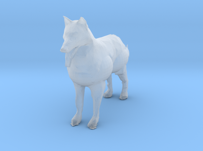 HO Scale German Shepard 3d printed This is a render not a picture