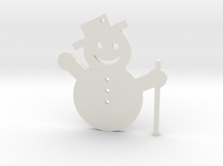 Snowman Tree Ornament 3d printed