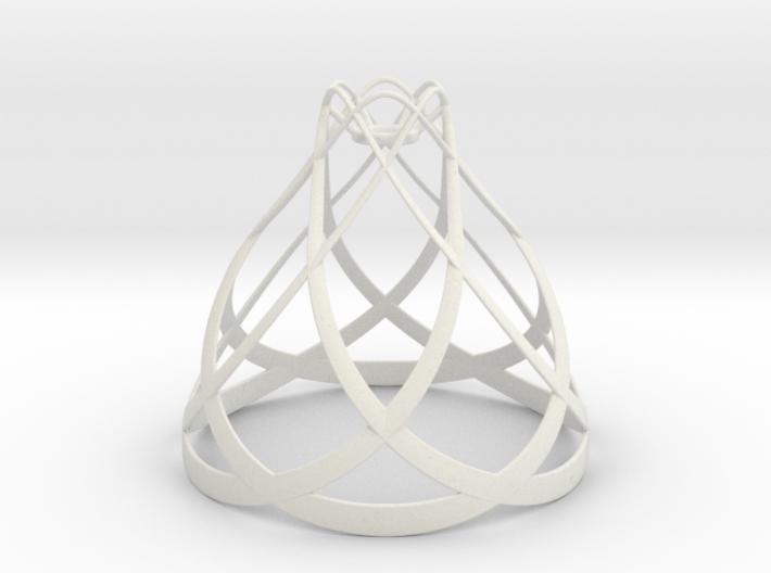 Flowing Lamp Shade 3d printed