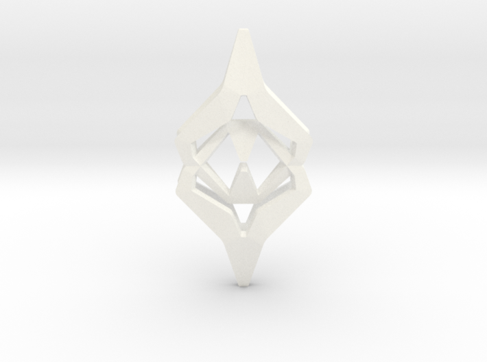 HEART TO HEART Attracture, Pendant 3d printed