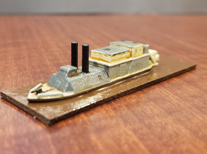 1/600 USS Barataria 3d printed Painted by David Wallace Kent
