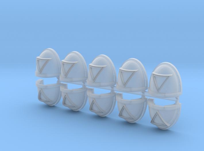 Reverse Triangles Mk7/8 shoulder pads x10 3d printed