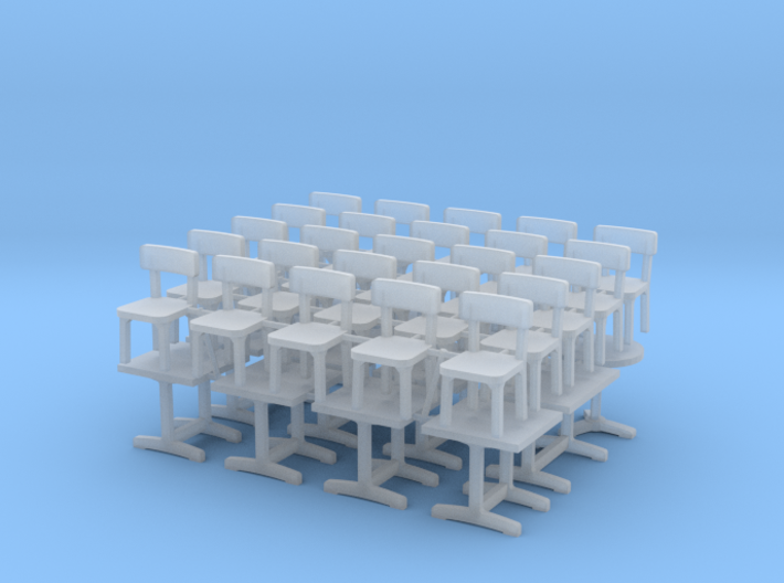 1:87 Tables (x12) & Chaises (x25) 3d printed