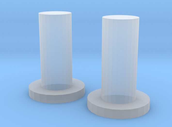 SID transparent LED switches plungers 3d printed