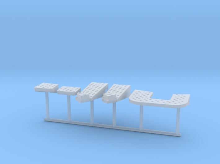 1/100 IJN Yamato Bridge Structure Platforms Part 5 3d printed