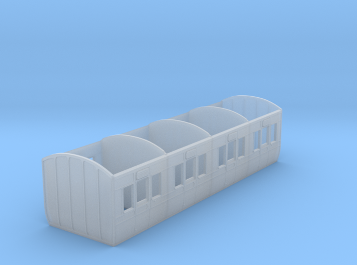 GWR 6 wheel 4 compartment first carriage diagram R 3d printed